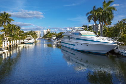 Immobilier Floride Investissement Fort Lauderdale Your boat in the canal